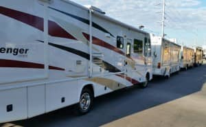 RVs lined up
