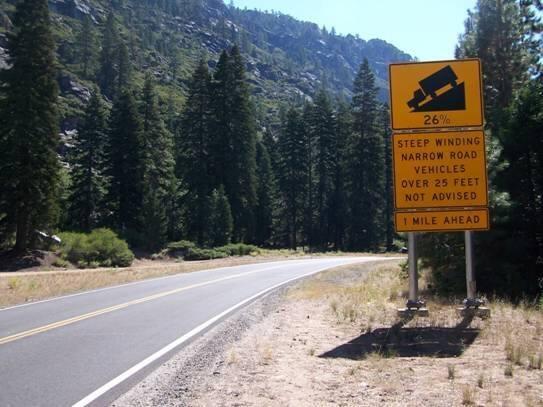 steep downhill