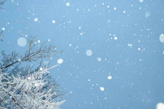 snowing on RV trip